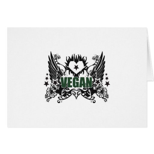 Vegano inmóvil tarjeta de felicitación