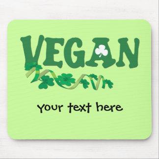 Vegano irlandés alfombrillas de ratones