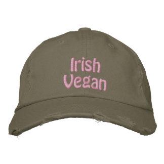 Vegano irlandés, el día de St Patrick, verde rosad Gorro Bordado