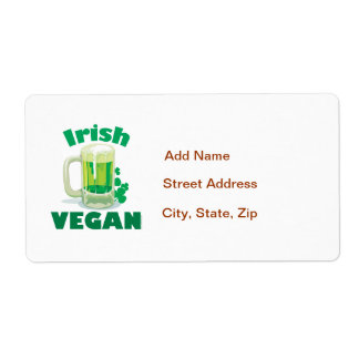Vegano irlandés etiqueta de envío