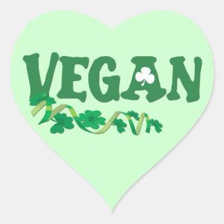 Vegano irlandés pegatina en forma de corazón