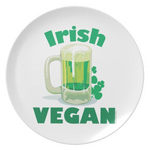 Vegano irlandés plato para fiesta