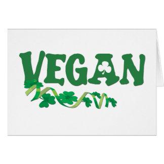 Vegano irlandés tarjeta de felicitación