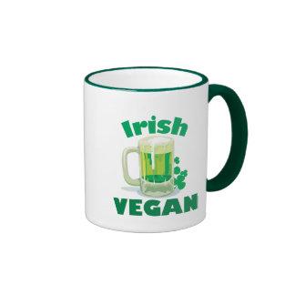 Vegano irlandés taza de dos colores