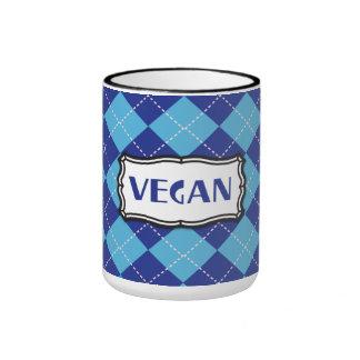 Vegano (modelo azul de Argyle) Tazas