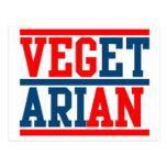 Vegano o vegetariano tarjeta postal