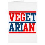 Vegano o vegetariano tarjeton