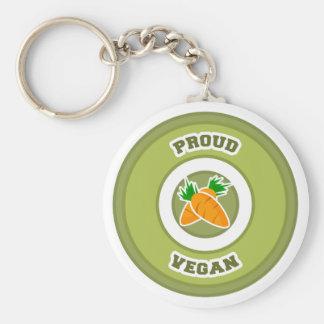 Vegano orgulloso llaveros personalizados