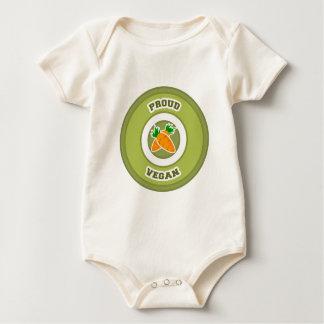 Vegano orgulloso mameluco de bebé