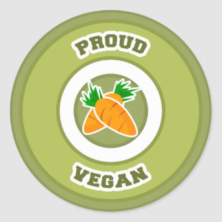 Vegano orgulloso pegatina redonda