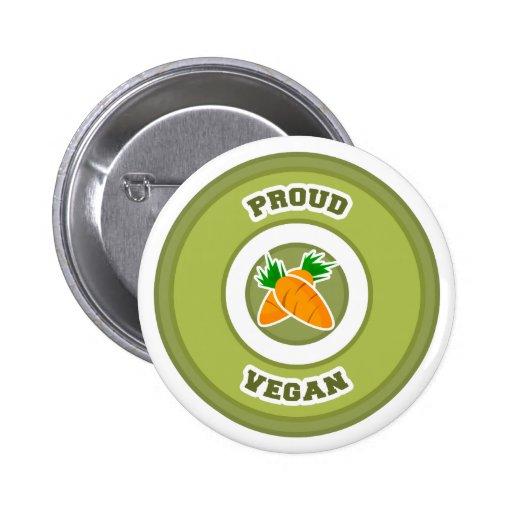 Vegano orgulloso pins