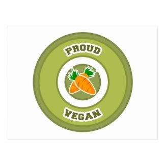 Vegano orgulloso tarjetas postales
