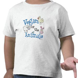 Vegano para la camiseta de los animales
