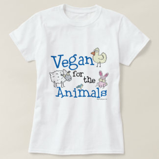 Vegano para la camiseta de los animales poleras