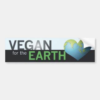 Vegano para la tierra pegatina para auto