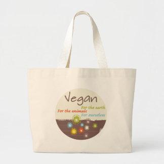 Vegano. Para la tierra, para los animales, para Bolsa Tela Grande
