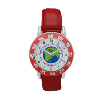 Vegano para la vida relojes de pulsera