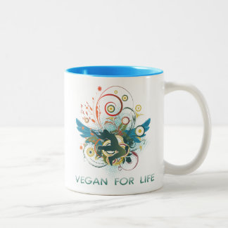 Vegano para la vida tazas