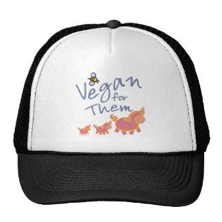 Vegano para los animales gorros