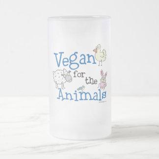 Vegano para los animales jarra de cerveza esmerilada
