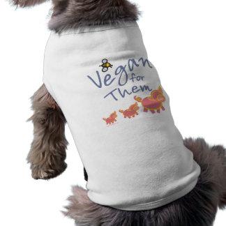 Vegano para los animales playera sin mangas para perro