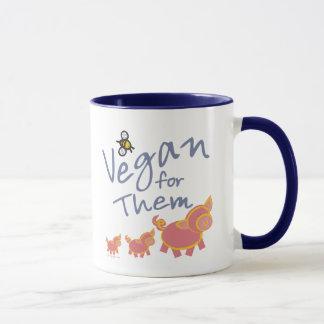 Vegano para los animales taza
