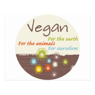 Vegano para una ropa y los regalos de la razón tarjetas postales