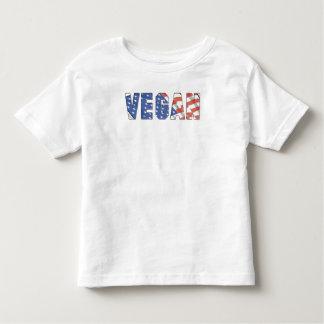 Vegano patriótico playera de bebé