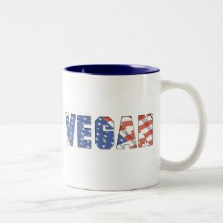 Vegano patriótico tazas de café
