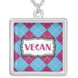 Vegano Pendiente Personalizado