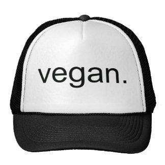 Vegano.  ¡Período! Gorras