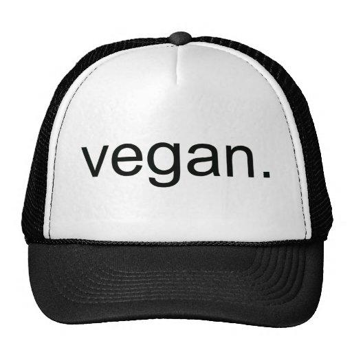 Vegano.  ¡Período! Gorro De Camionero