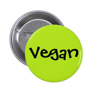 Vegano Pin Redondo De 2 Pulgadas