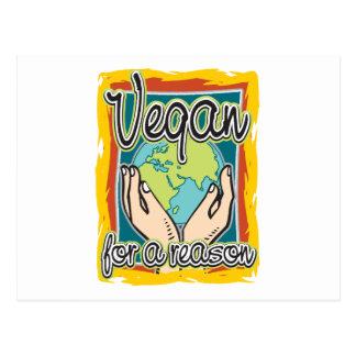 Vegano por una razón tarjetas postales