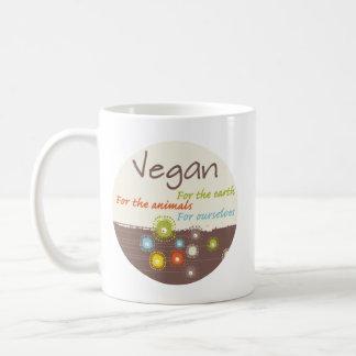 Vegano por una razón taza básica blanca