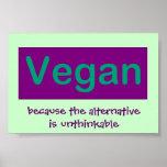 Vegano. Porque la alternativa es increíble Poster