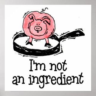 Vegano/poster vegetariano póster