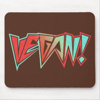 Vegano rojo y azul del eje de balancín de los años alfombrillas de raton