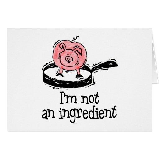 Vegano/tarjeta de felicitación vegetariana