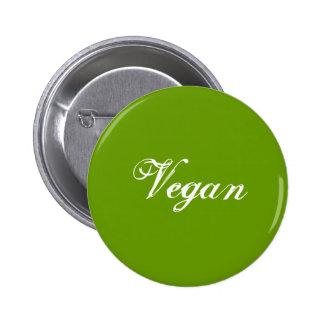 Vegano Verde Lema Personalizado Pin