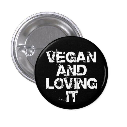 Vegano y amor de él botón pins