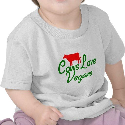 Veganos del amor de las vacas camisetas