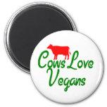 Veganos del amor de las vacas imán de frigorifico