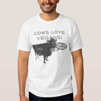 ¡Veganos del amor de las vacas! Playera