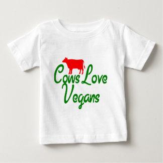 Veganos del amor de las vacas playera