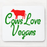 Veganos del amor de las vacas tapete de ratones