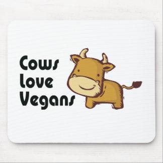veganos del amor de las vacas alfombrilla de ratón