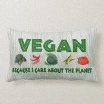 Veganos para el planeta almohada