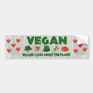 Veganos para el planeta pegatina de parachoque