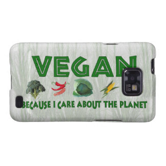 Veganos para el planeta galaxy SII carcasa